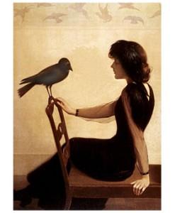 la joven y el pájaro