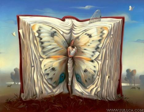 pintura-surrealista-mariposa