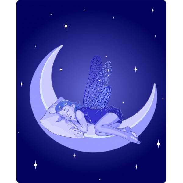 Rostro durmiendo sobre la luna