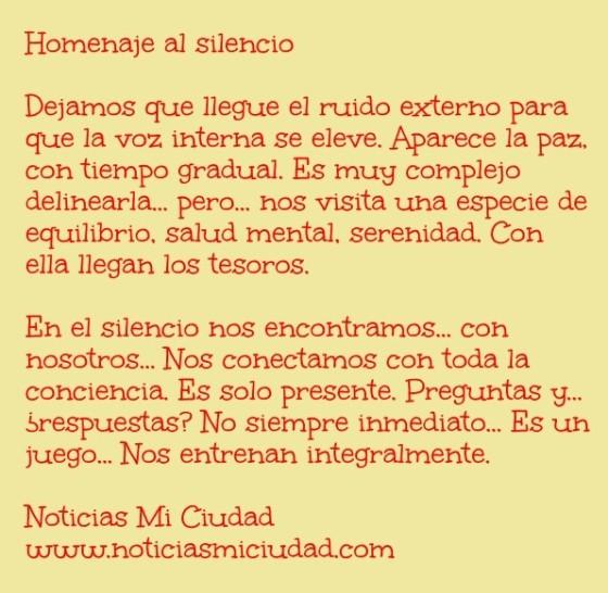 Homenaje al silencio